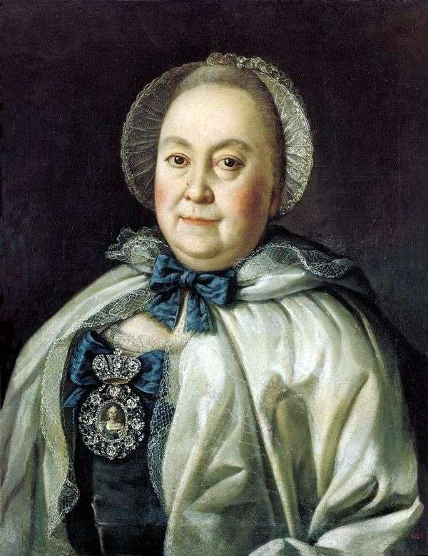 国家夫人玛丽亚Andreevny Rumyantseva   Alexey Antropov的肖像