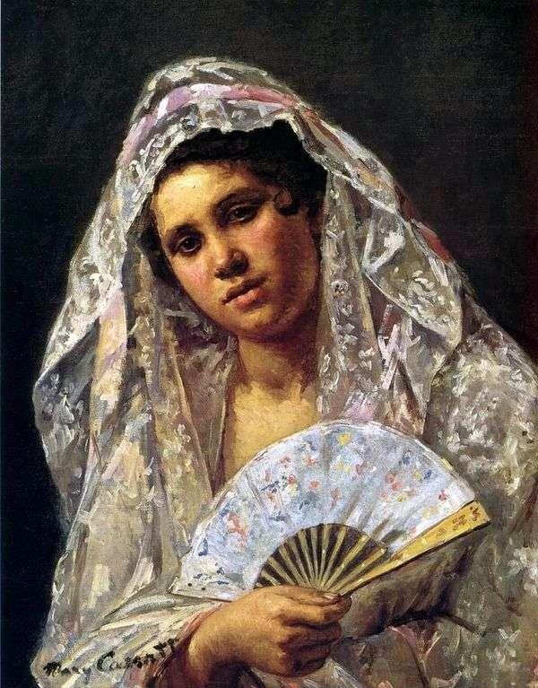 蕾丝曼蒂尔的西班牙舞者   玛丽卡萨特