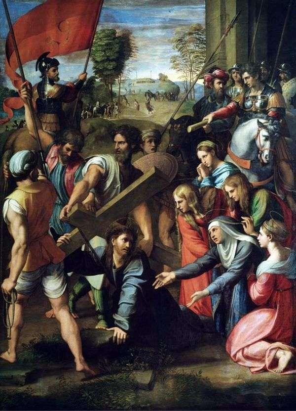 基督的降临在前往Cal髅地的路上   Rafael Santi