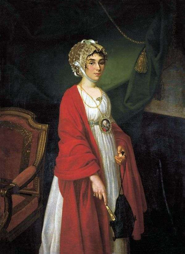 女演员P. I. Kovaleva Zhemchugova   Ivan Argunov的肖像