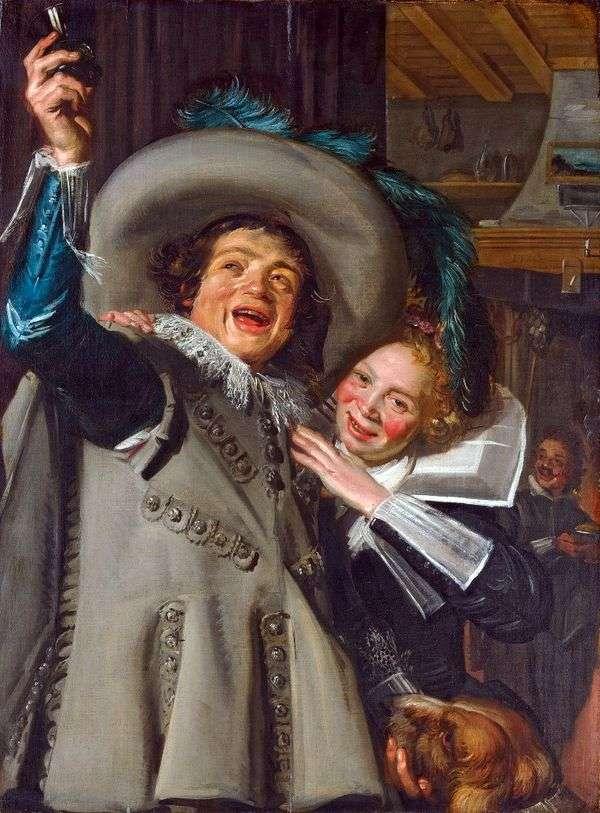 骑士斜坡和他的情人   弗兰斯哈尔斯