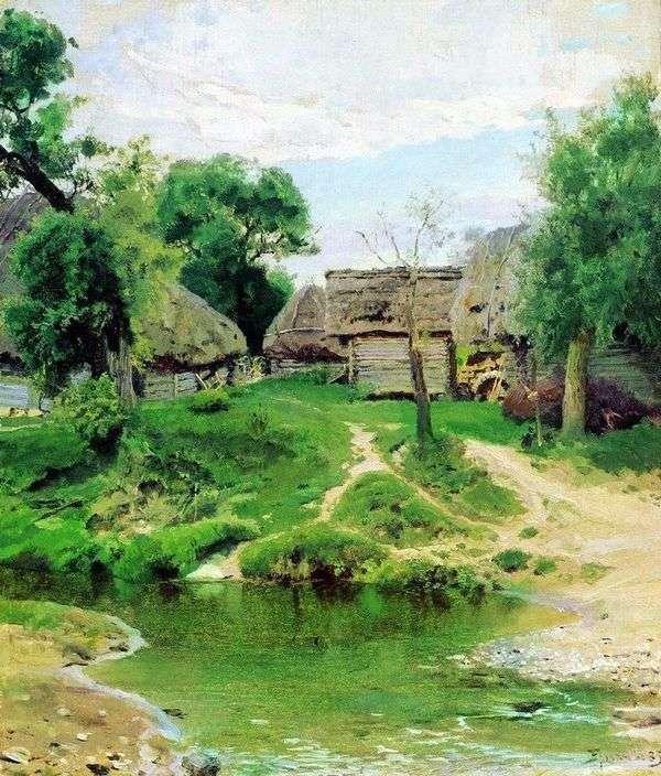 Turgenevo村庄   瓦西里Polenov