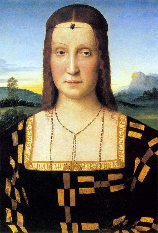 伊丽莎白冈萨戈的肖像   拉斐尔桑蒂