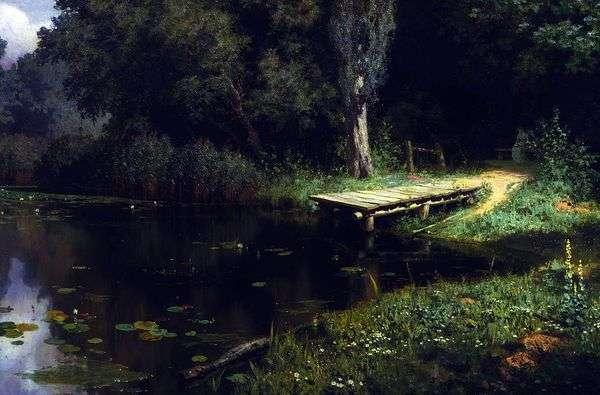 长满的池塘   瓦西里Polenov