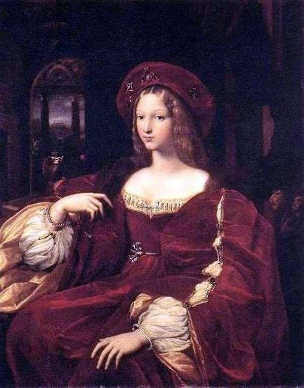 Jeanne de Aragon的肖像   Rafael Santi