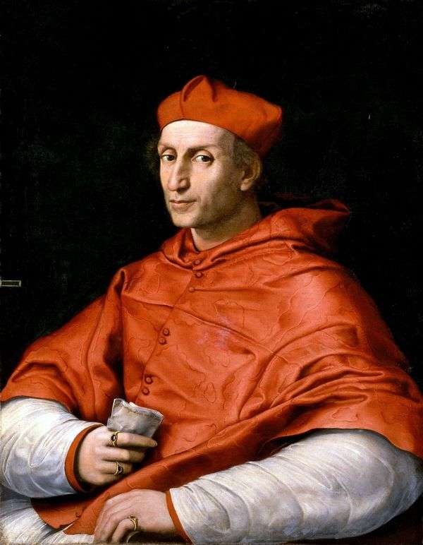 红衣主教Bibbiena   拉斐尔桑蒂的肖像
