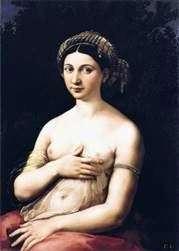 一个少妇或Fornarin的画象   拉斐尔Santi