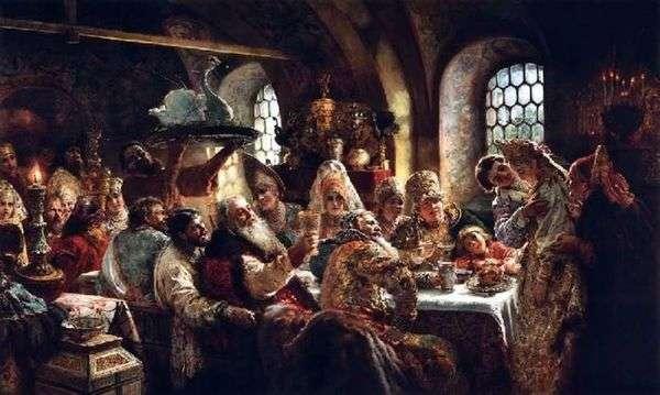 十七世纪的Boyarsky婚礼宴会   Konstantin Makovsky