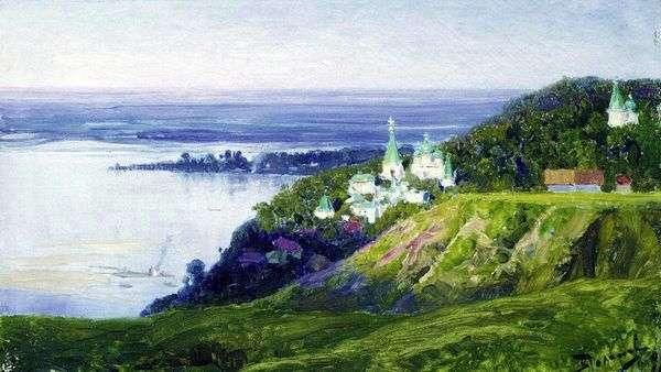 在河的修道院   瓦西里Polenov