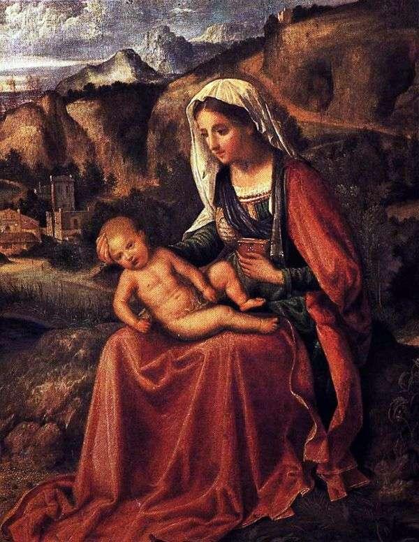 麦当娜和孩子在风景   Giorgione Barbarelli da Castelfranco