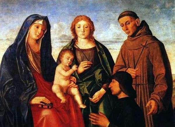 玛丽与婴儿,阿西西的圣弗朗西斯,圣徒和捐赠者   文森佐 卡特纳