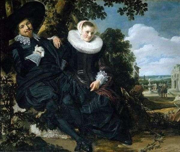 Isaac Massa和他的妻子   Frans Hals全家福