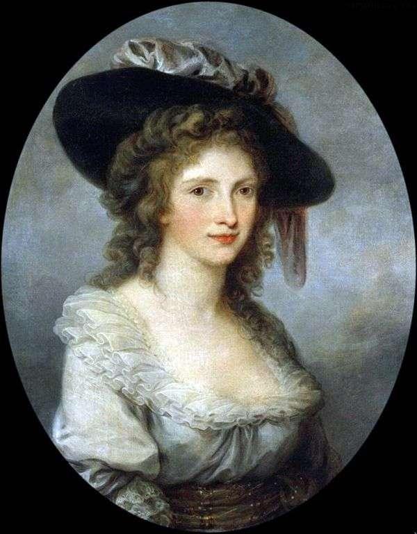 戴着丝绸蝴蝶结帽子的自画像   Angelika Kaufman