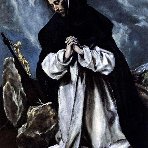 圣多米尼克的祈祷   埃尔格列柯