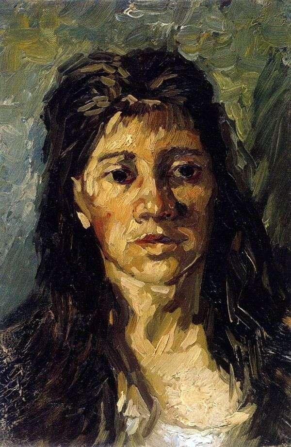 一个女人与她的头发的画像   文森特梵高