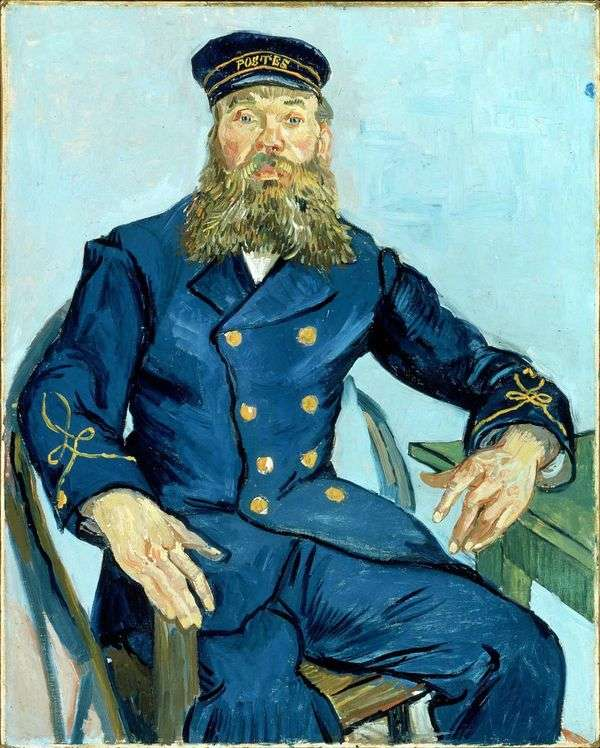 Joseph Roulin的肖像   文森特梵高