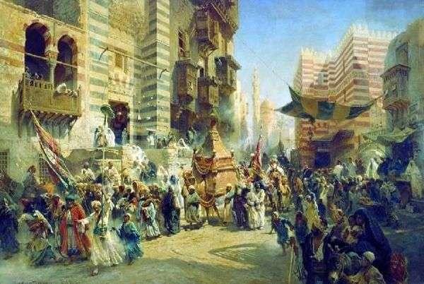 在开罗转移神圣的地毯   Konstantin Egorovich Makovsky