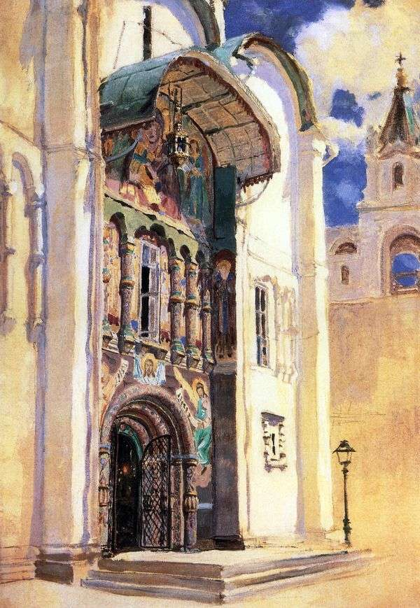 假设大教堂。南门   瓦西里Polenov