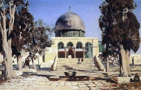 Haram Ash Sheriff   耶路撒冷古庙所在的广场   Vasily Polenov
