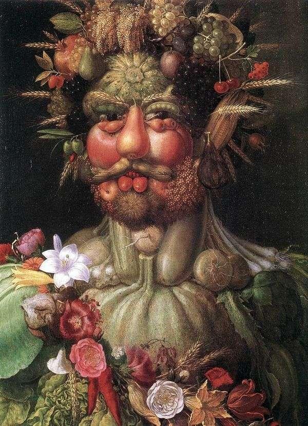 皇帝鲁道夫II画像   朱塞佩Archimboldi