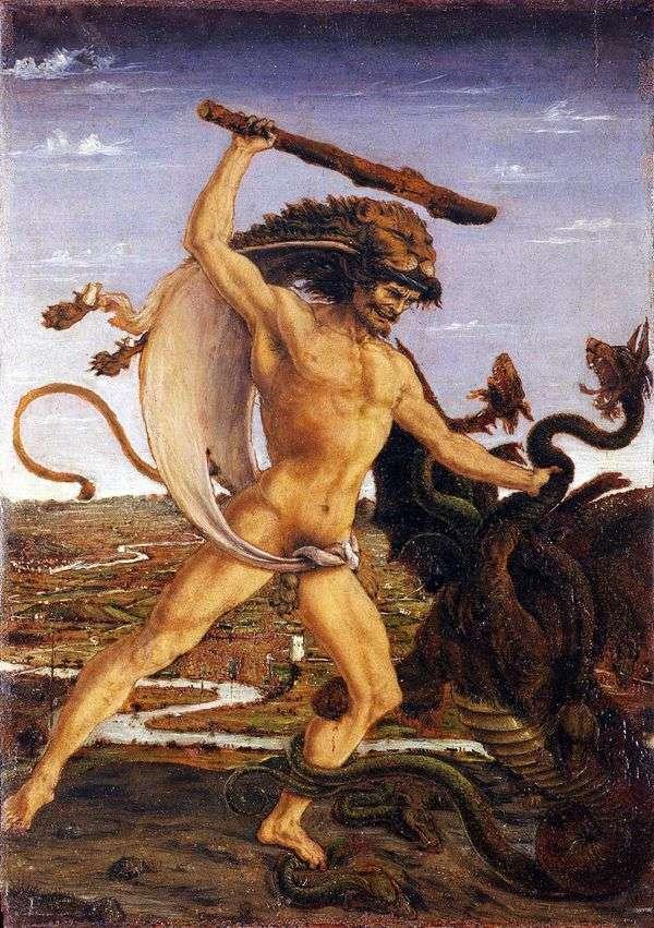 赫拉克勒斯和九头蛇   安东尼奥德尔波拉约奥