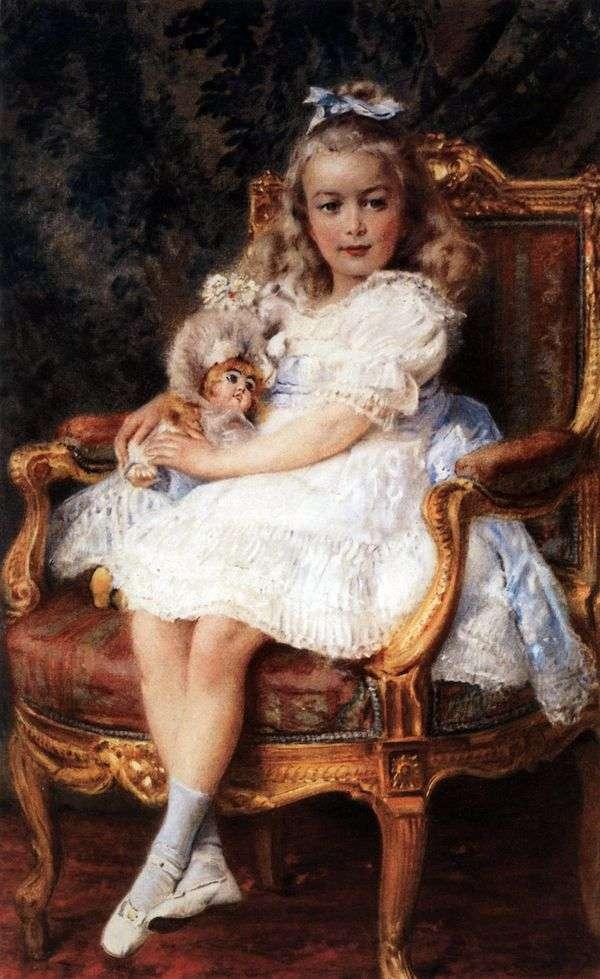 大公夫人玛丽亚Nikolaevna   康斯坦丁Makovsky画象
