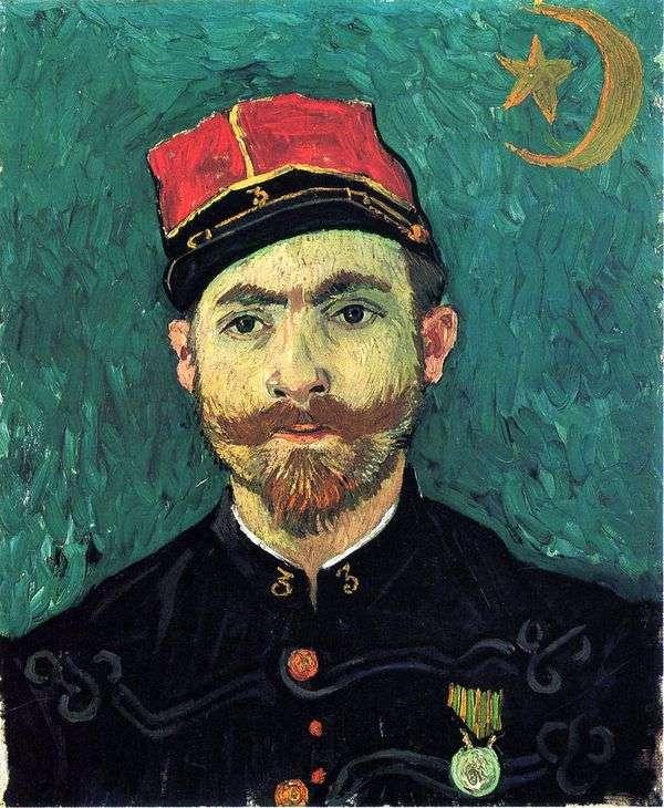 小米肖像,Zouava军团的第二中尉   文森特梵高