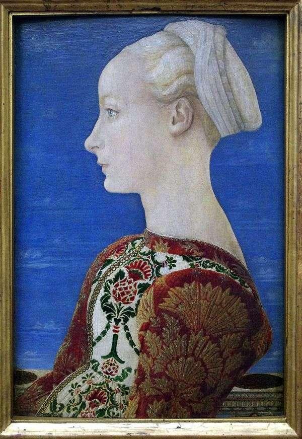 一个少妇的画象左外形的   安东尼奥del Pollaiolo