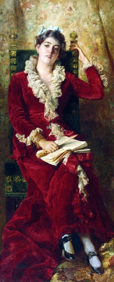 Yu. P. Makovskaya   Konstantin Makovsky的肖像