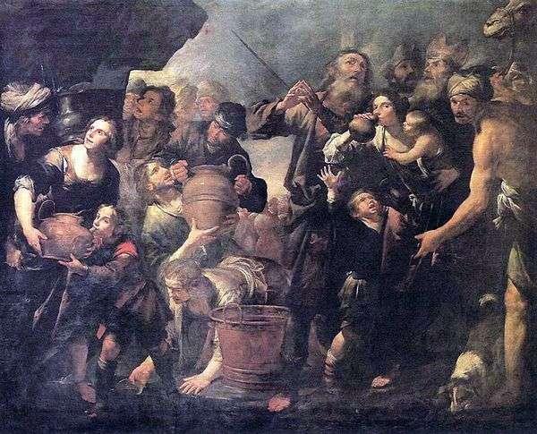 摩西从岩石中采矿水   Gioacchino Assereto