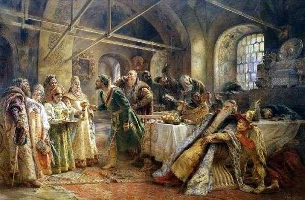 亲吻仪式(博士莫罗佐夫的盛宴)   康斯坦丁马可夫斯基