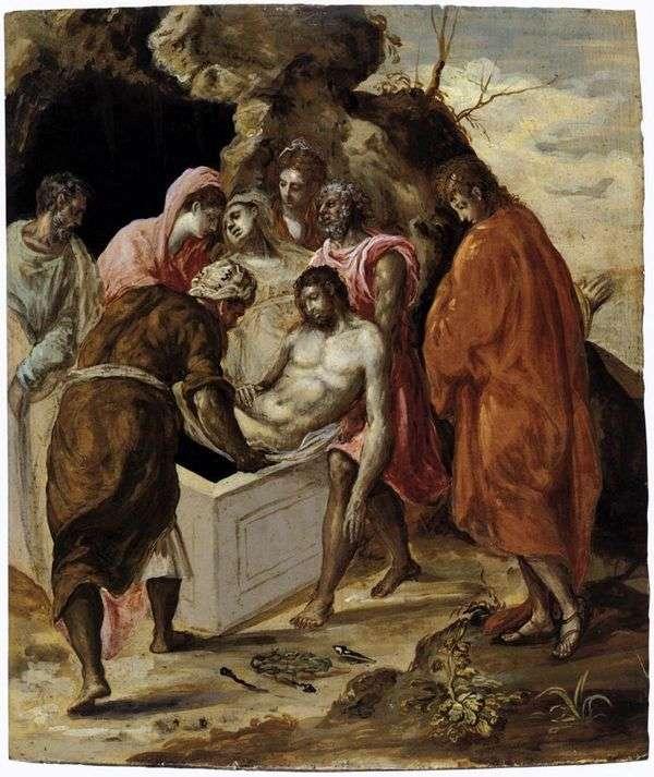 基督在坟墓中的位置   埃尔格列柯