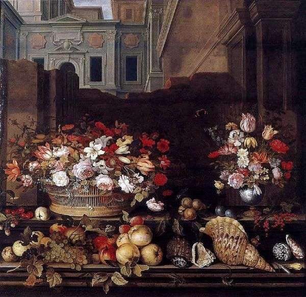 静物与鲜花,水果和贝壳   Balthazar van der Ast