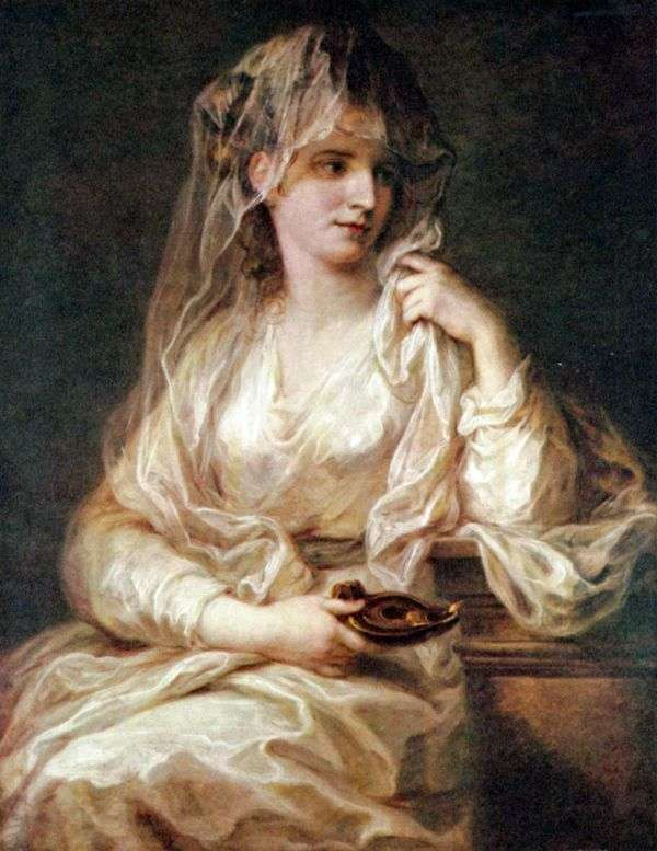一位夫人的画象Vestal长袍的   Angelika Kaufman