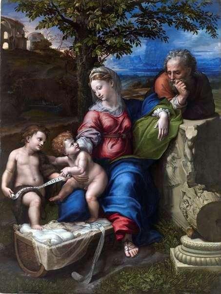 橡树下的神圣家族   拉斐尔桑蒂