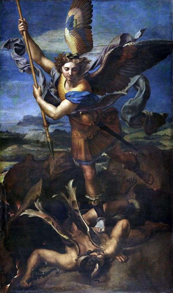 圣迈克尔和魔鬼   拉斐尔桑蒂