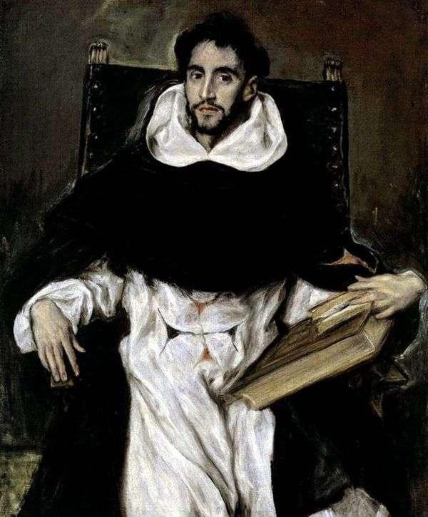 修士Ortencio Paravisino的肖像   埃尔格列柯
