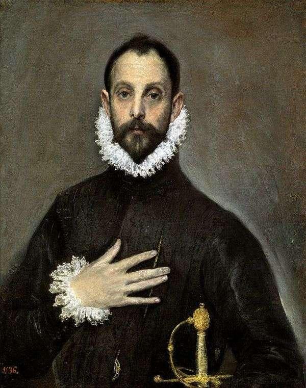 一位年长贵族的画象   El Greco