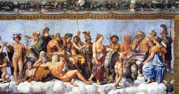 奥林匹斯(壁画)上的灵魂庆典   拉斐尔桑蒂