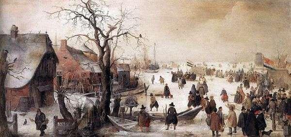 在冬季的频道   Averkamp Hendrik