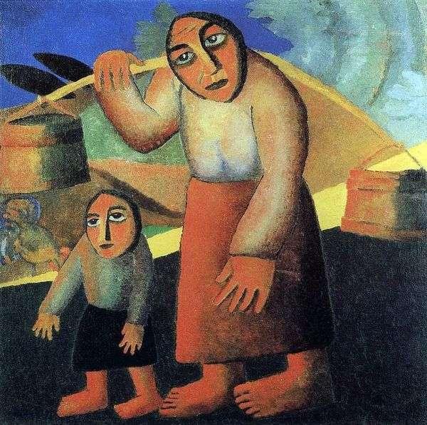 有桶的农民妇女   Kazimir Malevich