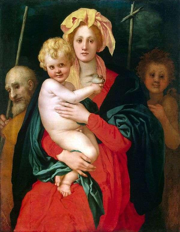 麦当娜和儿童,圣 约瑟夫和施洗约翰   雅各布蓬托尔莫