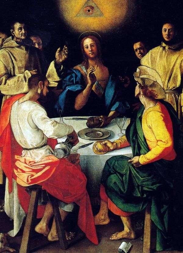 晚餐在Emmaus   Pontormo