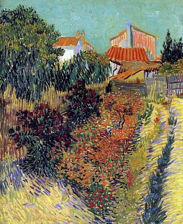 房子后面的花园   文森特梵高