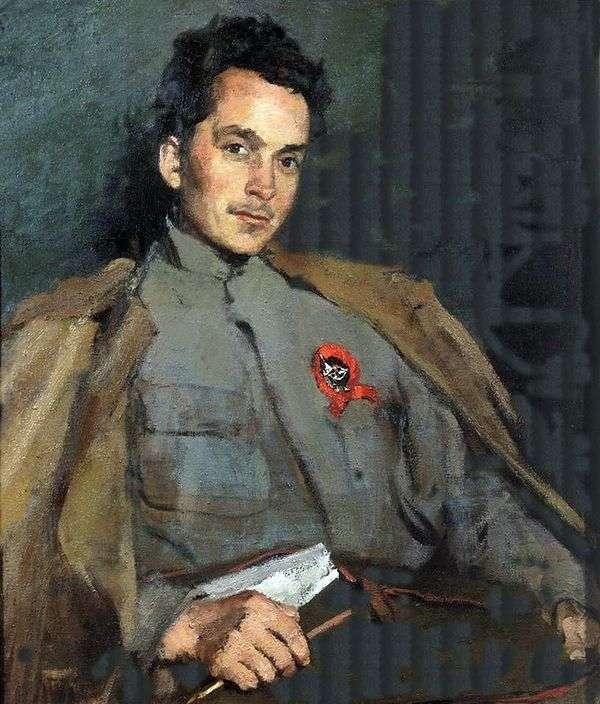作家D. A. Furmanov的肖像   Sergey Malyutin