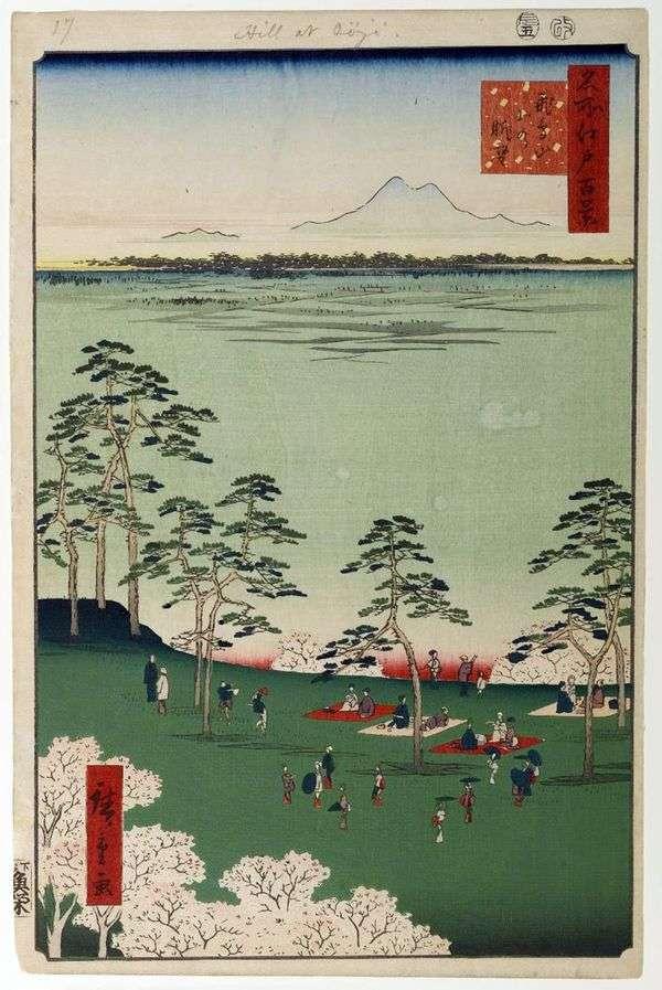 从Asukayama山向北看