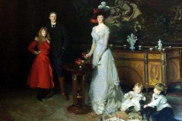 乔治西特韦尔爵士,伊达西特威尔夫人和他们的孩子   约翰萨金特