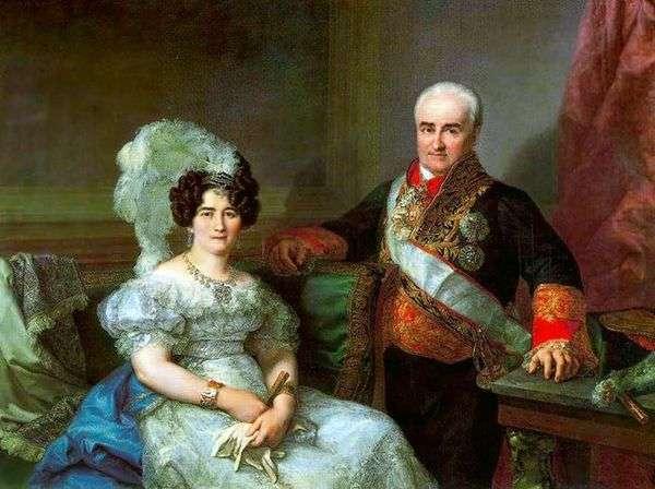 Antonio Ugarte和他的妻子   Lopez Porthan的肖像