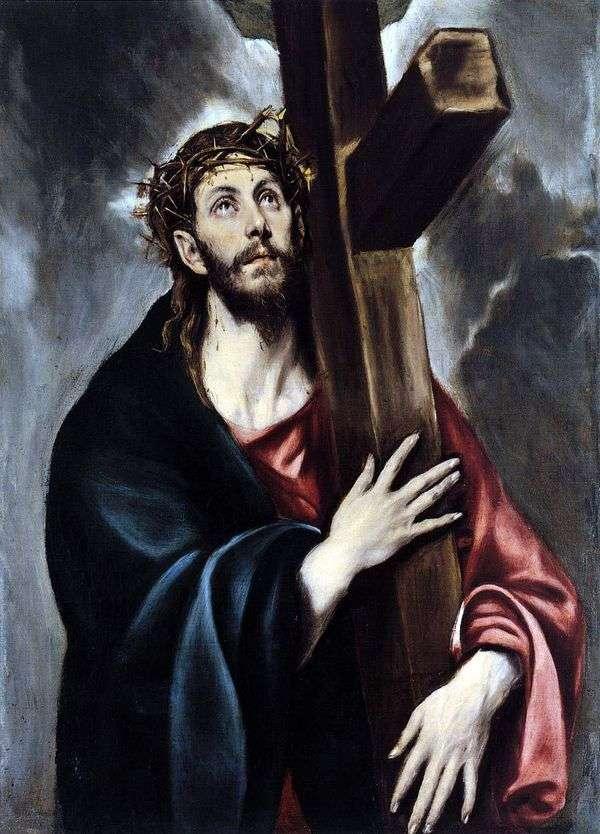基督背着十字架   埃尔格列柯