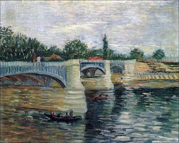 塞纳河与Grand Jet Pontoon Bridge   Vincent Van Gogh